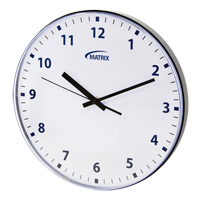 12 H Battery Operated Wall Clock OP237 | Johnston Equipment